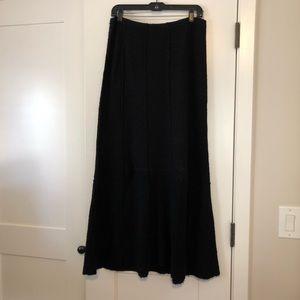 J. Jill long merino wool skirt black